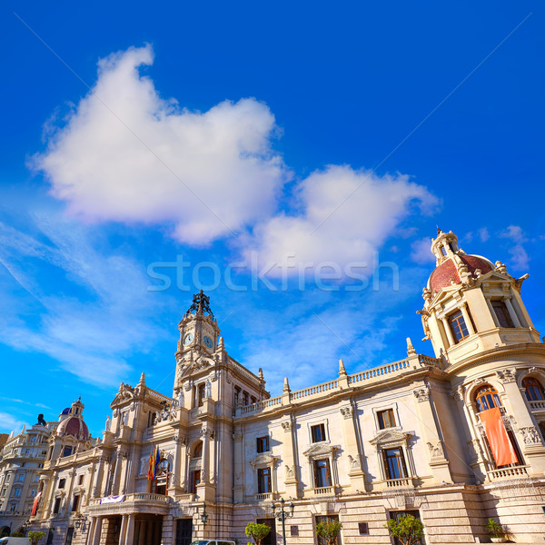 Valencia city Ayuntamiento building square Plaza Stock photo © lunamarina