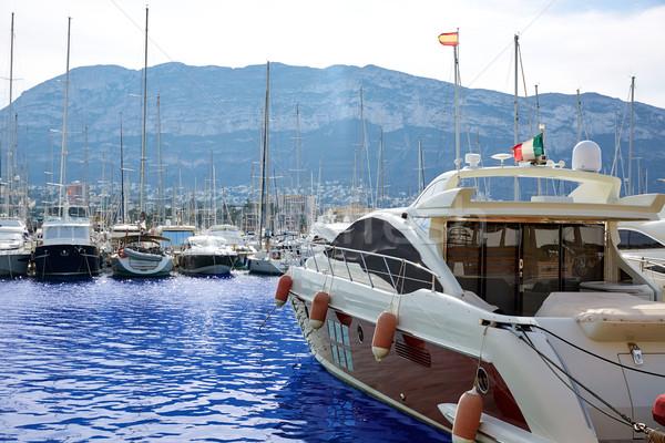 Denia port Marina in Mediterranean Spain Stock photo © lunamarina