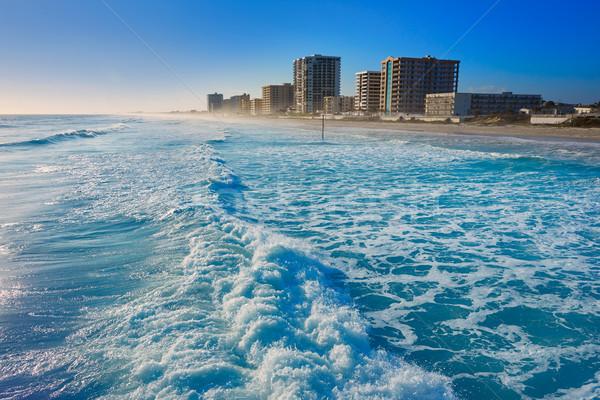 Spiaggia Florida shore edifici USA acqua Foto d'archivio © lunamarina