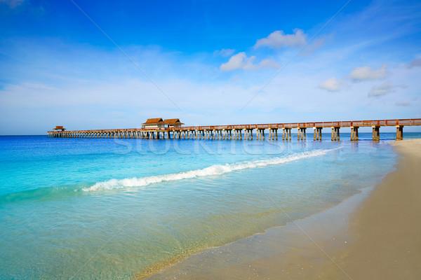 Naples Pier and beach in florida USA Stock photo © lunamarina