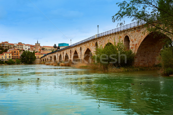 Zamora Puente de Piedra bridge on Duero river  Stock photo © lunamarina