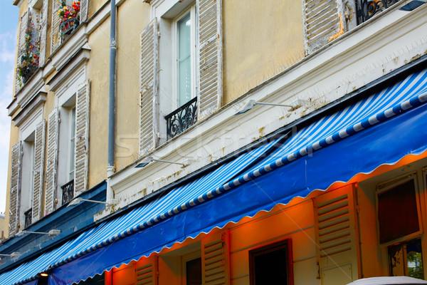 Montmartre place du Tertre Paris facades Stock photo © lunamarina