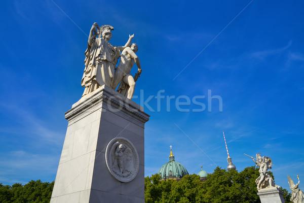 Berlin most Niemcy katedry miasta niebieski Zdjęcia stock © lunamarina