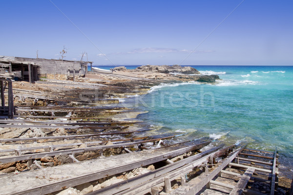 Na północ dok plaży wody tle Zdjęcia stock © lunamarina