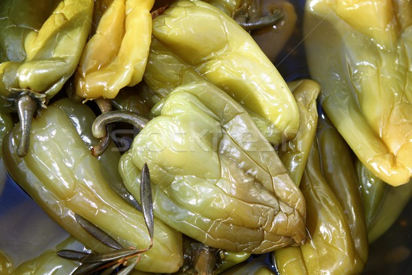 vinegar vinaigrette green peppers in market Stock photo © lunamarina