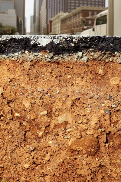 Estrada escavação terremoto cidade seção transversal quebrado Foto stock © lunamarina