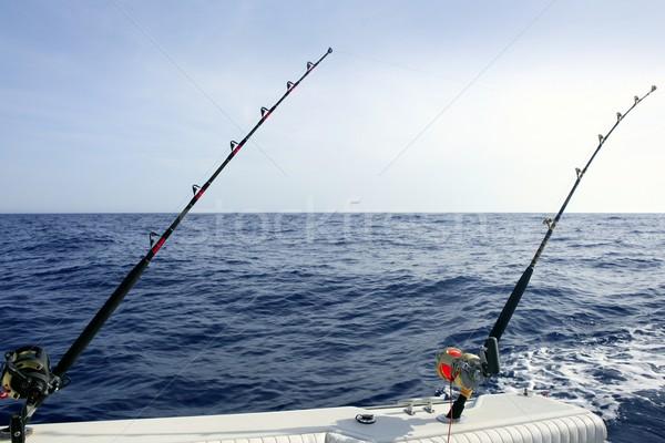 Stockfoto: Blauw · middellandse · zee · vissersboot · staaf · water · landschap