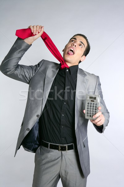 Businessman formal suit bad news reports Stock photo © lunamarina