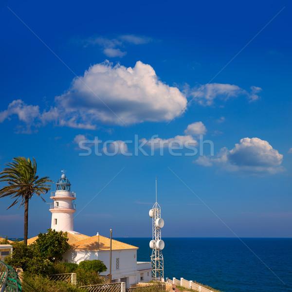 Vuurtoren Valencia middellandse zee zee Spanje water Stockfoto © lunamarina