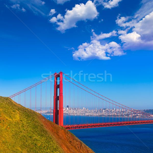 San Francisco Golden Gate Bridge Califórnia EUA céu cidade Foto stock © lunamarina
