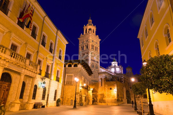 Aragon Teruel Cathedral Santa Maria unesco and City hall  Stock photo © lunamarina