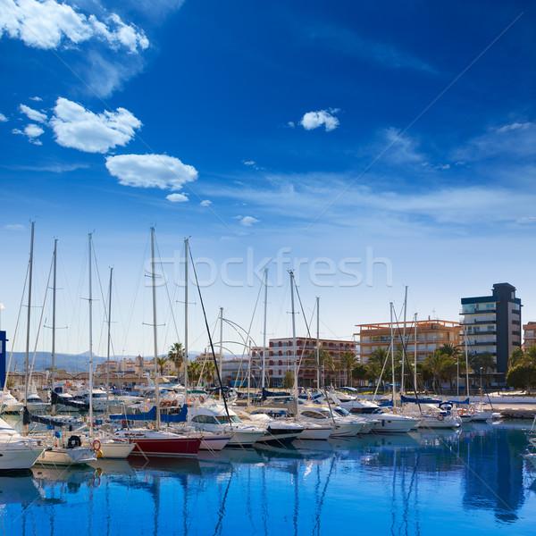 Marina bateaux Espagne Valence plage Photo stock © lunamarina