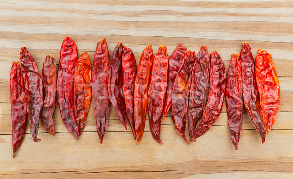 Chile de arbol seco dried hot Arbol pepper Stock photo © lunamarina