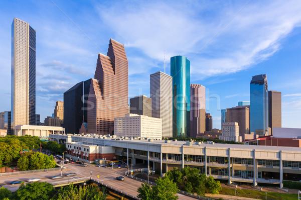 Stockfoto: Houston · skyline · noorden · Texas · antenne