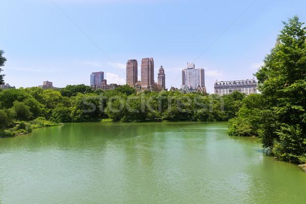 Central Park meer Manhattan New York hemel stad Stockfoto © lunamarina