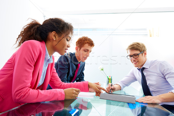Multi ethnic teamwork of young business people Stock photo © lunamarina