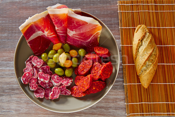 Сток-фото: Тапас · Испания · ветчиной · хлеб · оливками