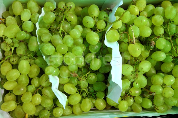 moscatel grape fruit clusters in market Stock photo © lunamarina