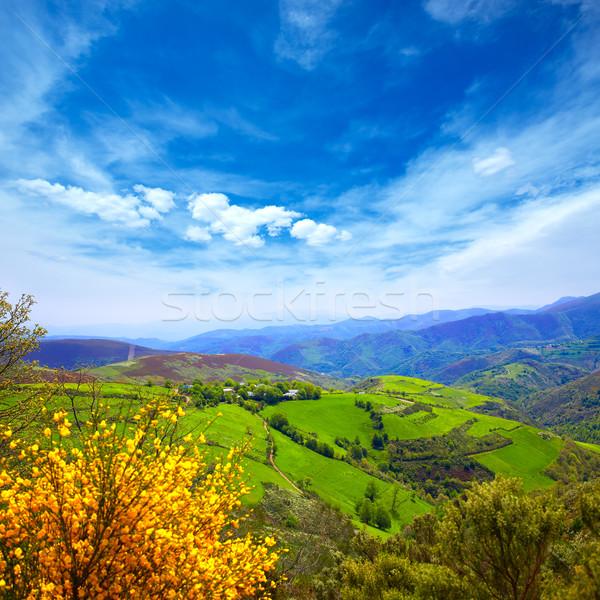 O Cebreiro mountains by the way of Saint James Stock photo © lunamarina