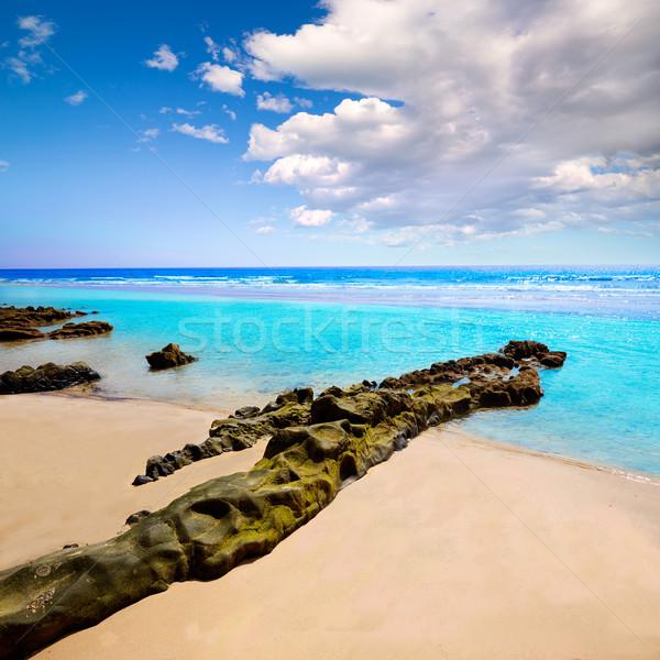 Praia canárias Espanha céu água natureza Foto stock © lunamarina