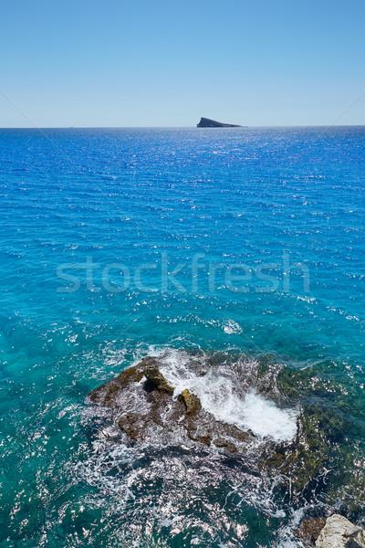 Eiland middellandse zee stad landschap zee achtergrond Stockfoto © lunamarina