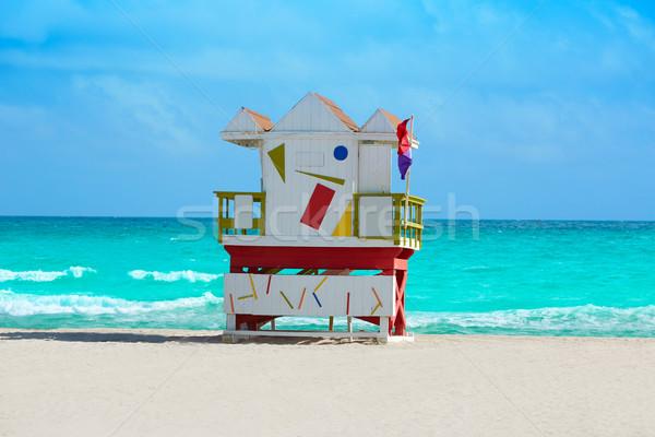Miami beach baywatch tower South beach Florida Stock photo © lunamarina