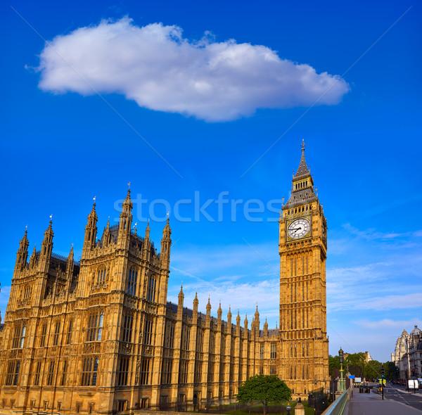 Big Ben óra torony London Anglia város Stock fotó © lunamarina