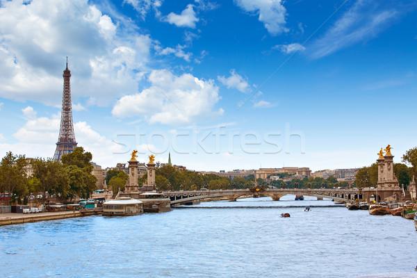 Paris França céu cidade arte ponte Foto stock © lunamarina