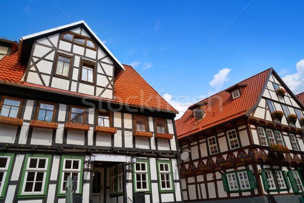 Hegyek Németország épület város utazás építészet Stock fotó © lunamarina