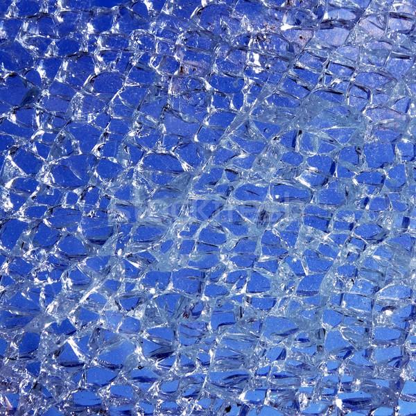 Vidrios rotos agrietado azul patrón cielo diseno Foto stock © lunamarina