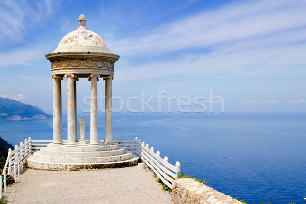 es Galliner gazebo in Son Marroig over Majorca sea Stock photo © lunamarina