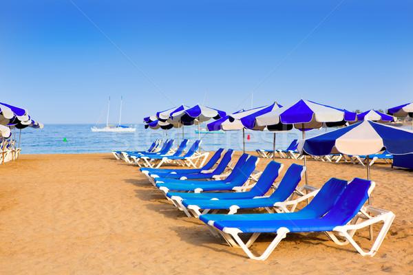 Strand tenerife zuiden kust hemel Stockfoto © lunamarina