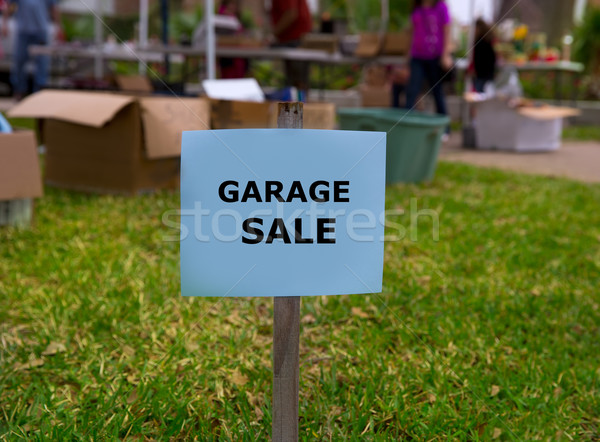 Stock photo: Garage sale in an american weekend on the yard