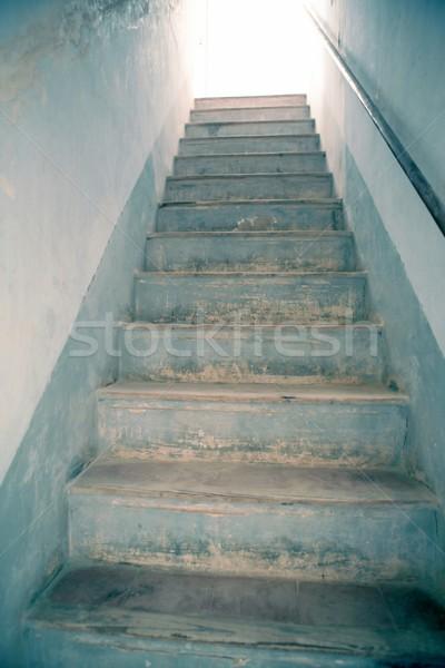 Lépcsőfeljáró fény metafora menny fehér felfelé Stock fotó © lunamarina
