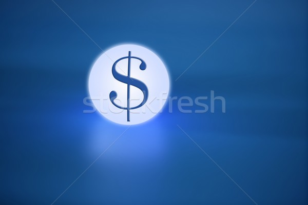 glowing light sphere  with dolar  american sign Stock photo © lunamarina