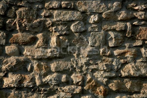 Duvarcılık İspanya eski taş duvarlar taş duvar Stok fotoğraf © lunamarina