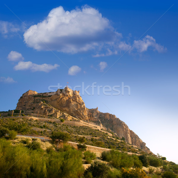 Alicante Santa Barbara Castle in Spain Stock photo © lunamarina