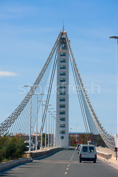 Elche Alicante Bimilenario suspension bridge over Vinalopo Stock photo © lunamarina