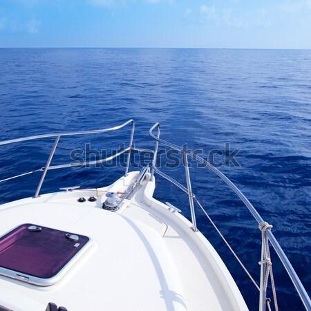 Сток-фото: лодка · лук · парусного · синий · морем