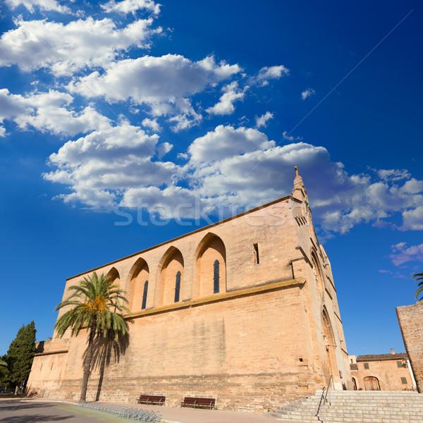 Alcudia Old Town Sant Jaume church in Majorca Stock photo © lunamarina