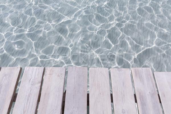 Strand pier majorca eilanden Spanje landschap Stockfoto © lunamarina
