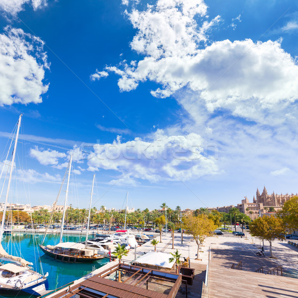 Palma de Mallorca port marina in Majorca Balearic Stock photo © lunamarina