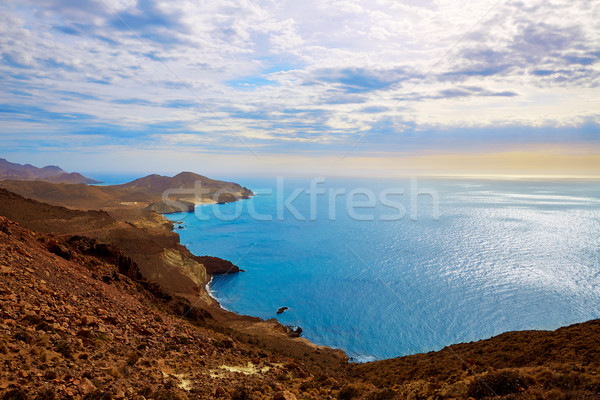 Cabo de Gata Almeria Levante east aerial Spain Stock photo © lunamarina