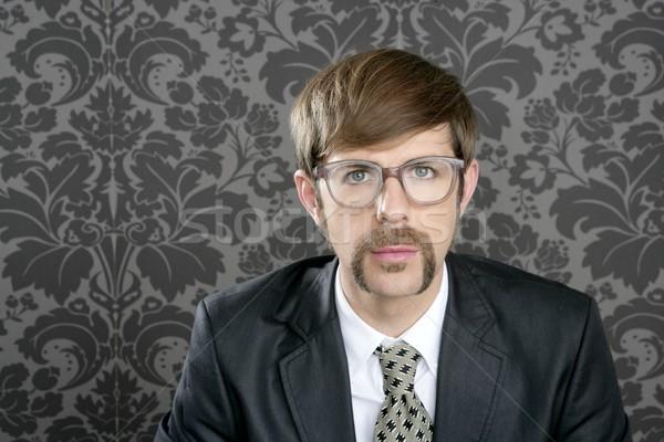 businessman nerd retro glasses  portrait Stock photo © lunamarina