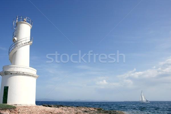 Lighthouse in balearic Islands Formentera Stock photo © lunamarina