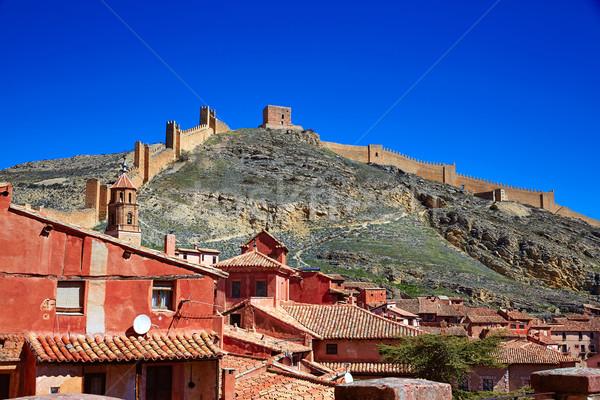 Medievale città Spagna frazione muro strada Foto d'archivio © lunamarina