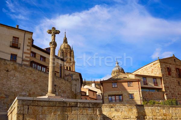 Ajusticiados cross Salamanca at Anibal door Stock photo © lunamarina