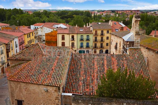 Zamora high angle view roofs Spain Stock photo © lunamarina
