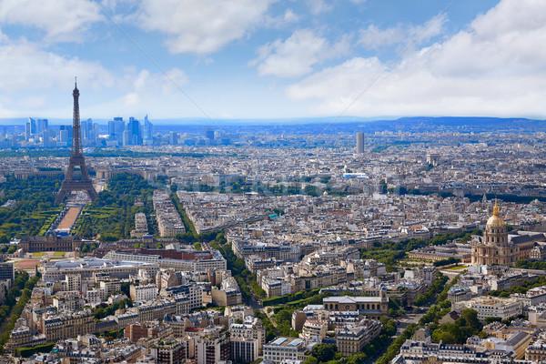 Paris Tour Eiffel Skyline France Photo stock © lunamarina