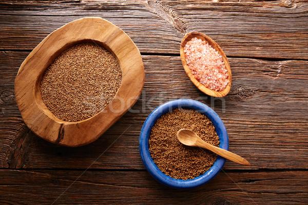 Sesame seeds gomasio seasoning ingredients Stock photo © lunamarina